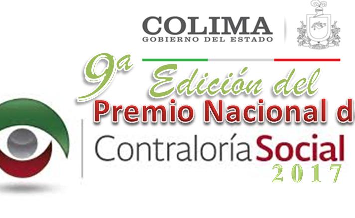 Premio Nacional de Contraloría Social 2017 -