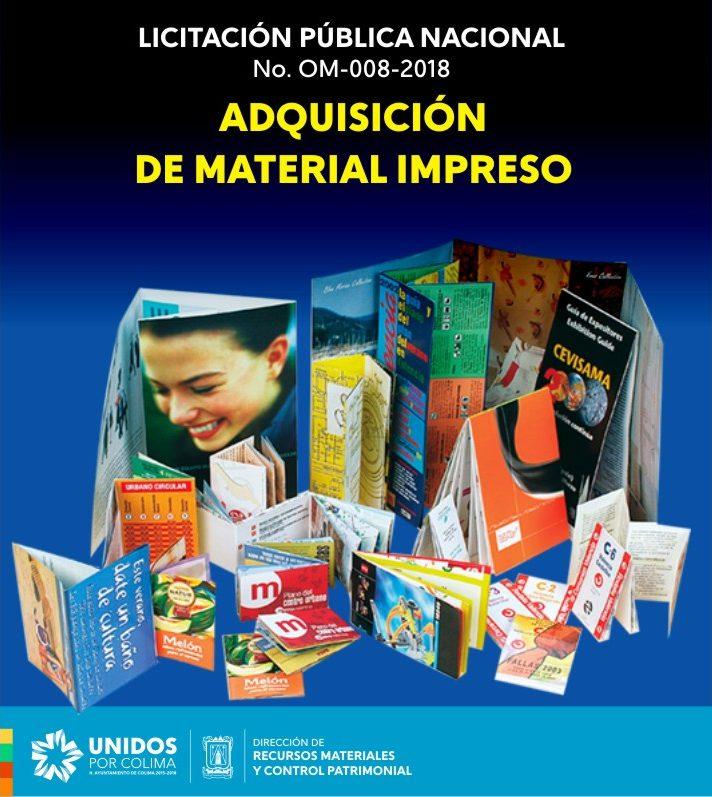 Convocatoria Material Impreso -