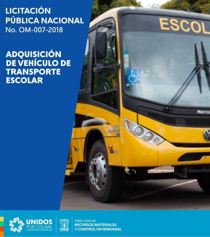 Convocatoria Transporte Vehicular -