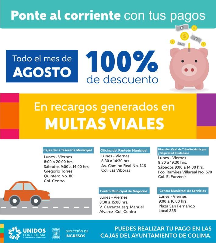 Multas Viales Agosto -